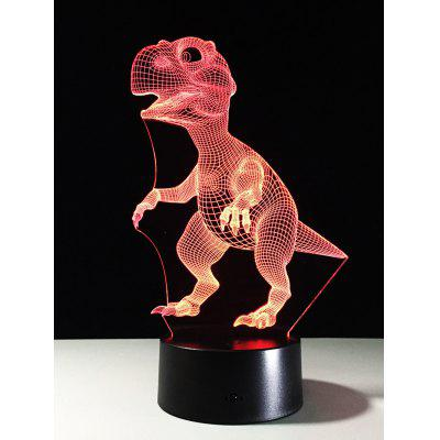 O melhor presente 7Color Alterar LED Dinossauro Light Touch Night 3D