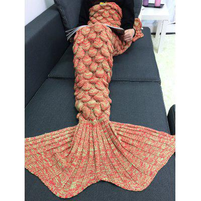 Buy ORANGE M Crochet Knitting Fish Scales Design Mermaid Tail Style Blanket for $12.23 in GearBest store