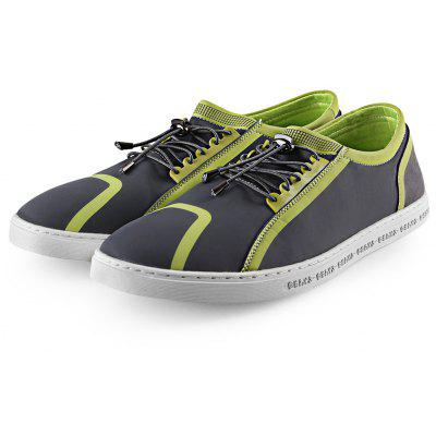 Elastic Band Color Block Skate Shoes for Men