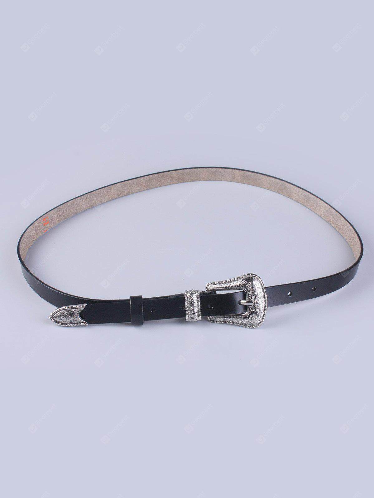 Couro Faux Pin Buckle cinto