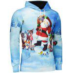 3D Print Pullover Christmas Patterned Hoodies - BLUE