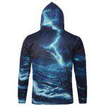 cheap Dolphin Graphic Kangaroo Pocket Hoodie
