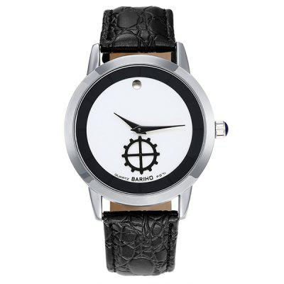Faux Leather Quartz Vintage Analog Watch