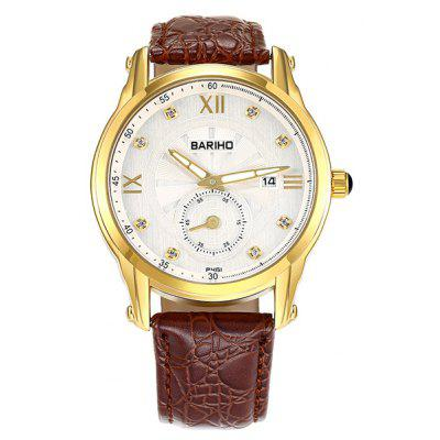 Faux Leather Vintage Roman Numerals Watch