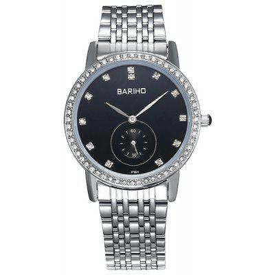 Stainless Steel Rhinestone Quartz Watch