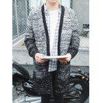 Buttoned Raglan Sleeve Ombre Chunky Cardigan - GRAY