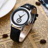 Faux Leather Quartz Vintage Analog Watch - SILVER