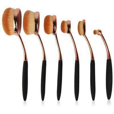 6 Pcs Nylon Artist Makeup Brushes Set