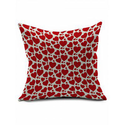 Love Heart Pattern Cotton Linen Pillowcase