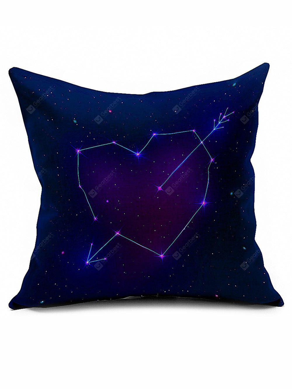 Valentine Gift Starry Cotton Linen Cushion Cover Throw Pillowcase