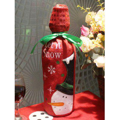 Merry Christmas Snowman Wine Bottle Cover Bag Table Decoration