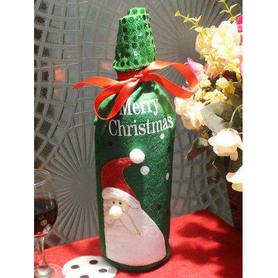 Christmas Santa Claus Wine Bottle Cover Bag Table Decoration