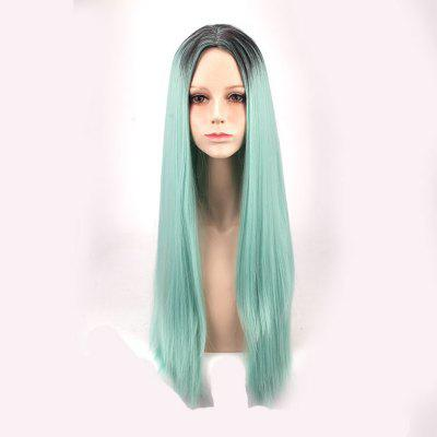 Long Middle Part Straight Colormix Synthetic Cosplay Anime Wig