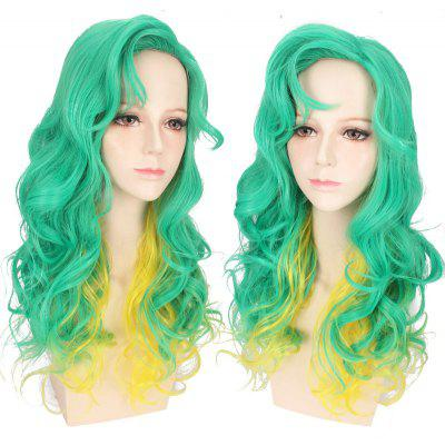Long Side Bang Wavy Double Color Synthetic Cosplay Anime Wig