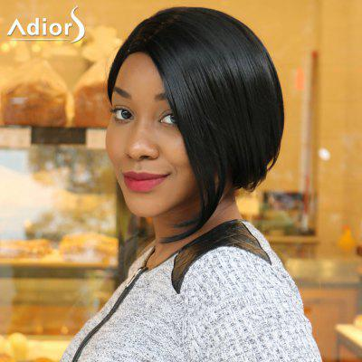 Buy BLACK Adiors Short Bob Side Parting Straight Synthetic Wig for $14.39 in GearBest store