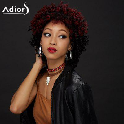 Buy COLORMIX Adiors Short Shaggy Colormix Curly Synthetic Wig for $22.31 in GearBest store
