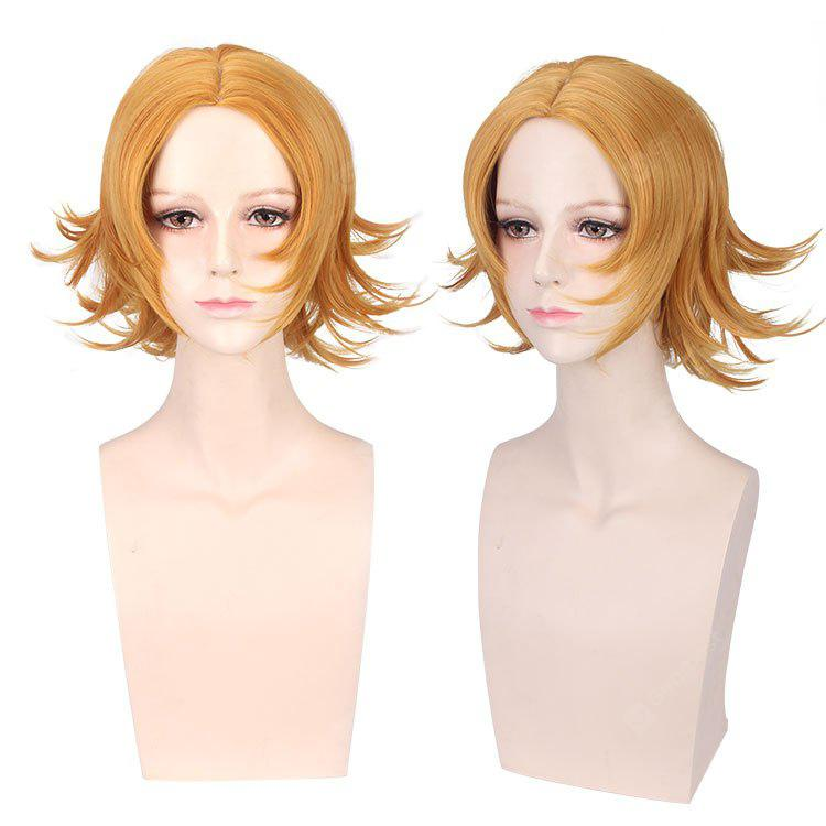 Short Middle Part Tail Upward Synthetic Cosplay Wig