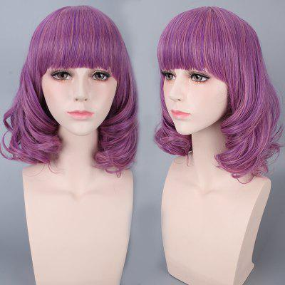 Medium Neat Bang Culrly Harajuku Synthetic Cosplay Wig