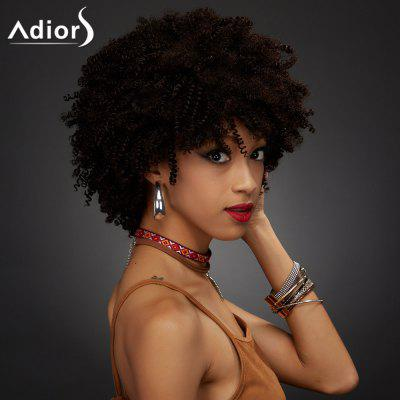 Buy COLORMIX Adiors Short Full Bang Towheaded Curly Synthetic Wig for $21.24 in GearBest store