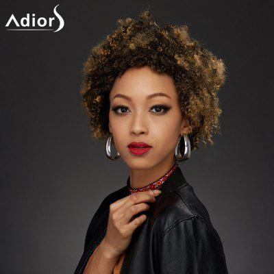 Buy COLORMIX Adiors Colormix Short Fluffy Curly Synthetic Wig for $20.60 in GearBest store