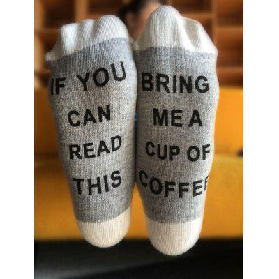 Funny Letter Graphic Pattern Knitted Socks