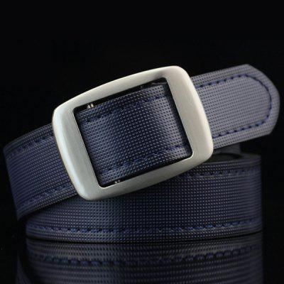 Gingham Embossed Faux Leather Square Buckle Belt