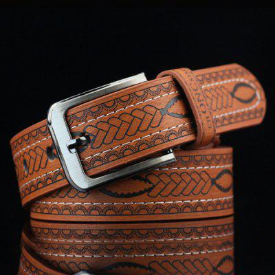 Pin Buckle Aztec Print Faux Leather Belt