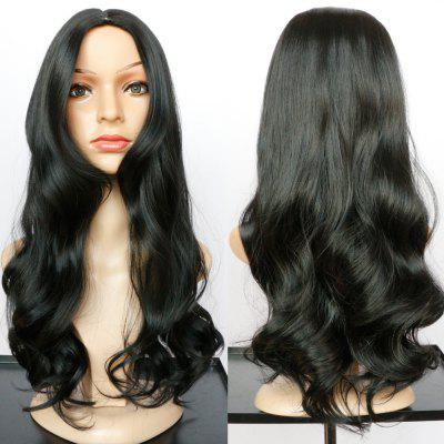 Long Centre Parting Wavy Tail Adduction Synthetic Wig