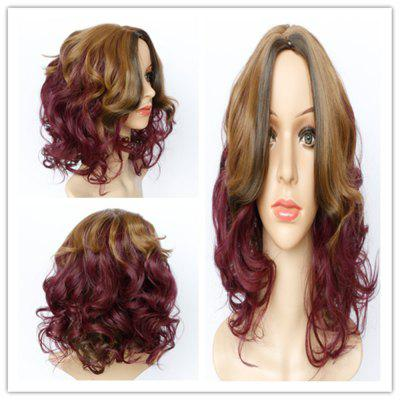 Buy COLORMIX Fashion Blonde Mixed Purple Synthetic Shaggy Wave Long Wig For Women for $20.40 in GearBest store