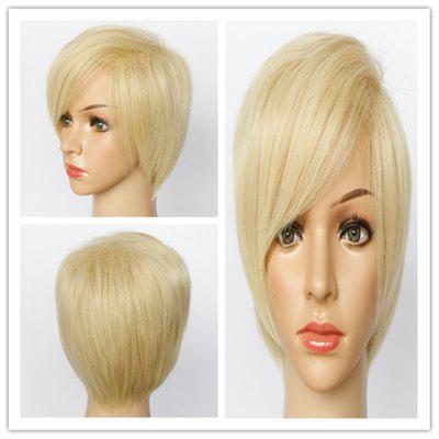 Buy COLORMIX Fluffy Short Pixe Cut Capless Spiffy Straight Blonde Mixed Synthetic Wig For Women for $19.94 in GearBest store
