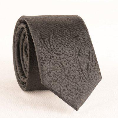 Buy BLACK 6CM Width Tie with Paisley Jacquard for $9.22 in GearBest store