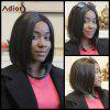 Adiors Short Straight Middle Parting Bob Synthetic Wig - BLACK