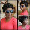 Adiors Pixie Cut Short Fluffy Curly Synthetic Wig - BLACK