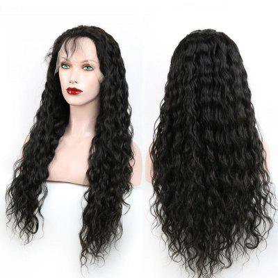 Buy BLACK Heat Resistant Synthetic Long Fluffy Curly Lace Front Wig for $57.67 in GearBest store