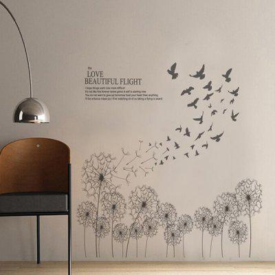 Dandelion Removable Home Decor Wall Stickers