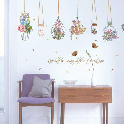 0%OFF Hanging Flower Vase Removable PVC Wall Stickers Part 83