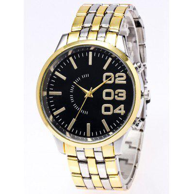 Stainless Steel Watchband Quartz Watch