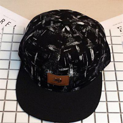 Black Oil Paint Printed Baseball Cap With 29 Labeling 7