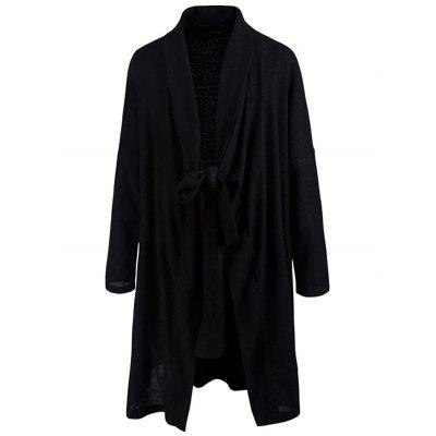 Shawl Collar Tied Cardigan