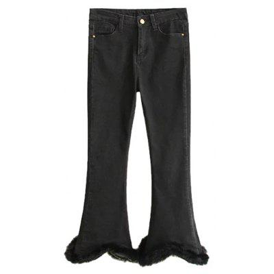 Fuzzy Ninth Flare Jeans