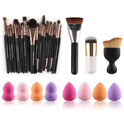 23 Pcs Makeup Brushes and Makeup Sponges
