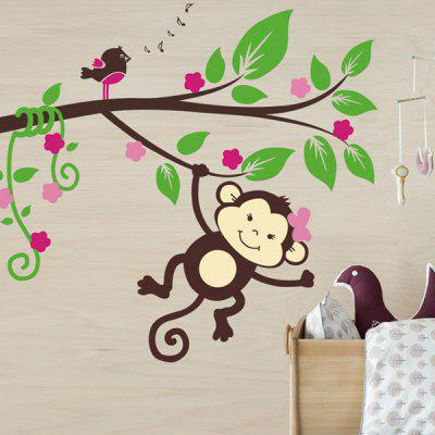 0%OFF Cartoon Monkey Animal Wall Mural Stickers For Kidu0027s Rooms Part 71