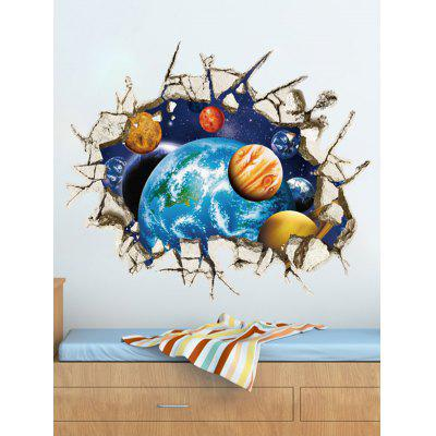 0%OFF Wall Broken 3D Removable Ceiling Wall Stickers Planets