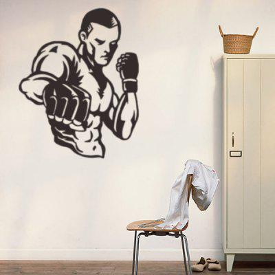 Boxing Removable Sports Wall Stickers For Bedrooms ...