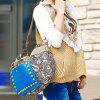 Buy Ethnic Style Rivets Splice Design Women's Tote Bag COLORMIX