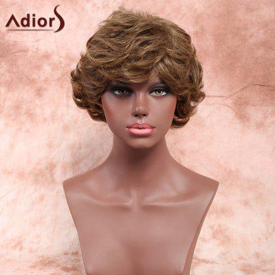 Buy COLORMIX Adiors Layered Short Inclined Bang Shaggy Curly Synthetic Wig for $15.02 in GearBest store