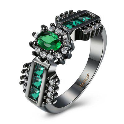 Buy GREEN 9 Artificial Emerald Oval Ring for $5.67 in GearBest store