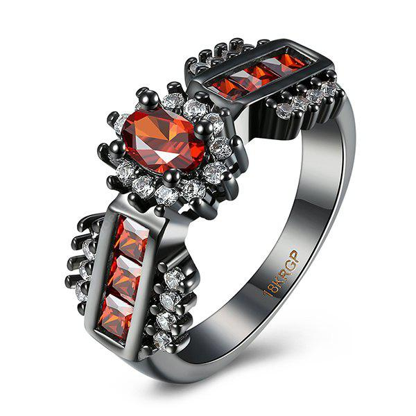RED 8 Artificial Ruby Oval Ring