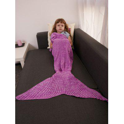 Buy ROSE MADDER Keep Warm Crochet Knitting Mermaid Tail Style Blanket For Kids for $15.51 in GearBest store