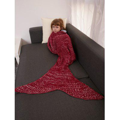 Keep Warm Crochet Knitting Mermaid Tail Style Blanket For Kids от GearBest.com INT